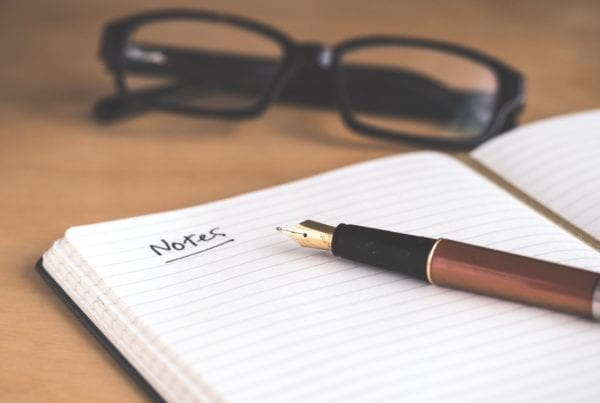 Presentation preparation notebook