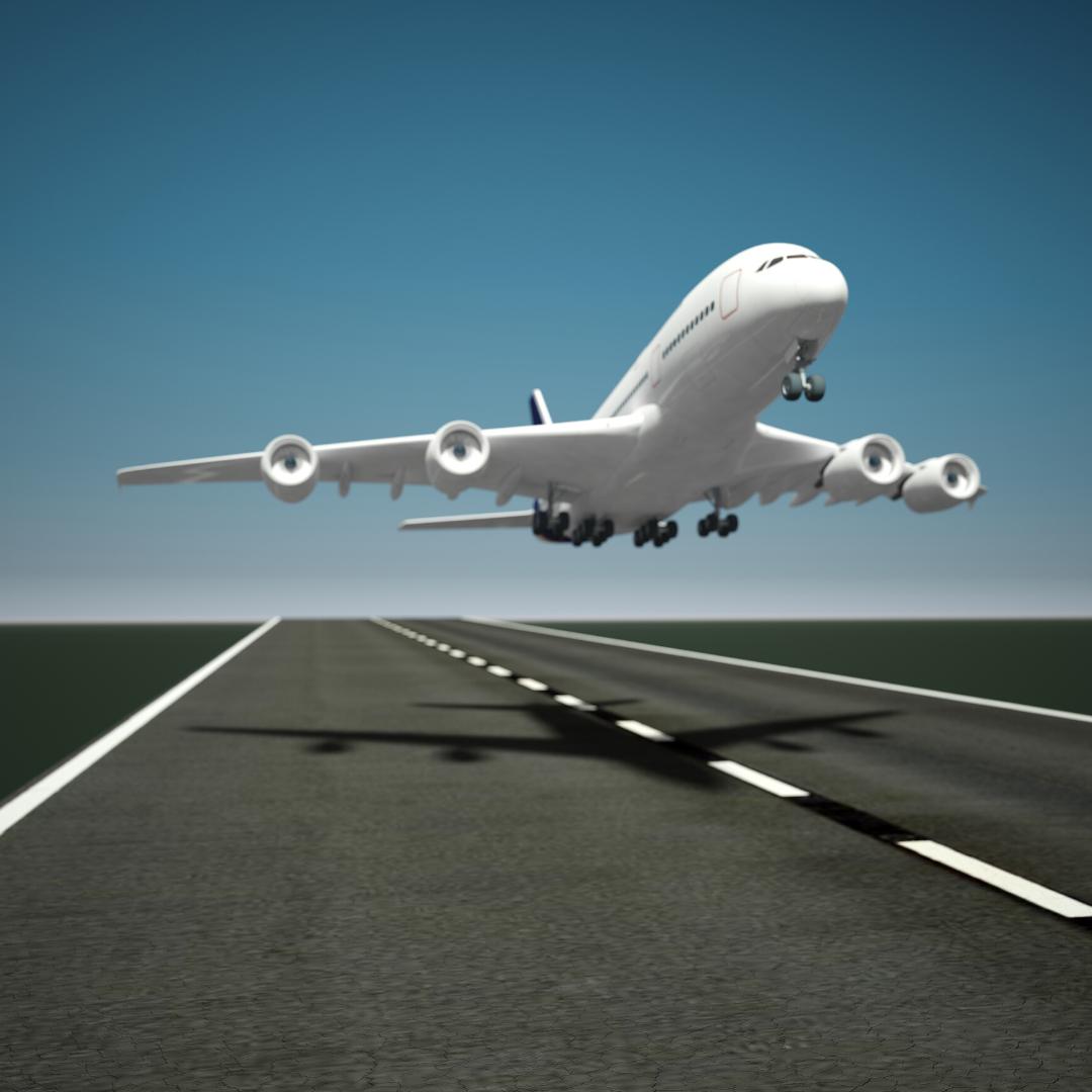 airplane taking off voice in speech