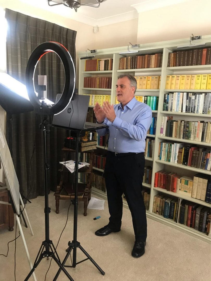 filming from home presentation technology