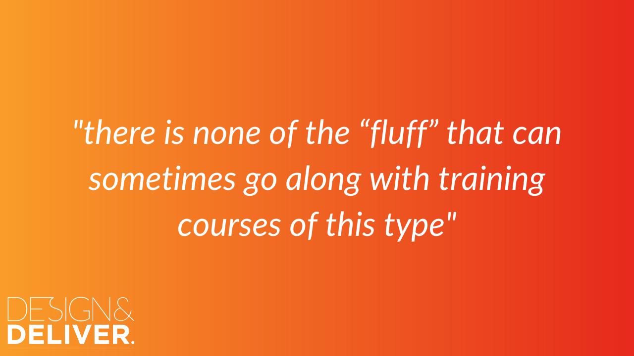 fluff free presentation training team