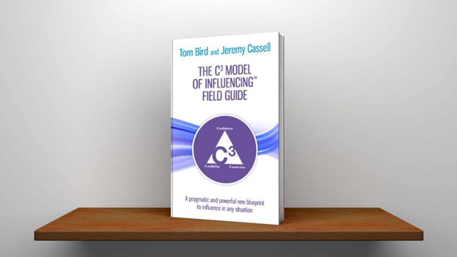 The C3 model of influencing field guide book on shelf