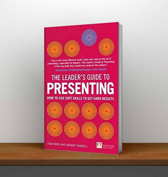 The leaders guide to presenting book on shelf